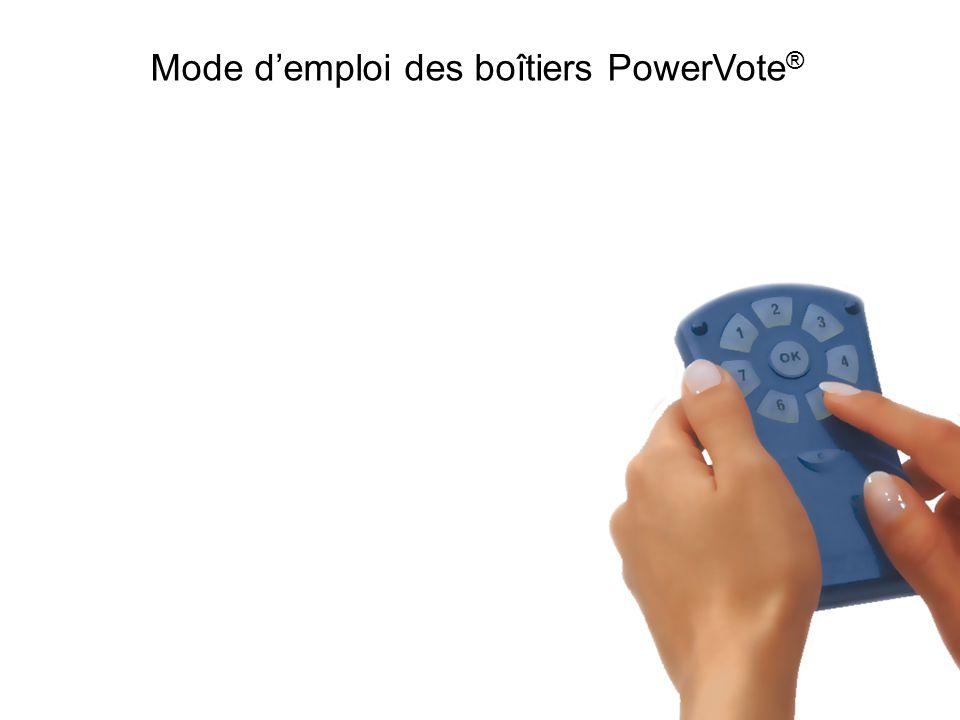 Mode demploi des boîtiers PowerVote ®