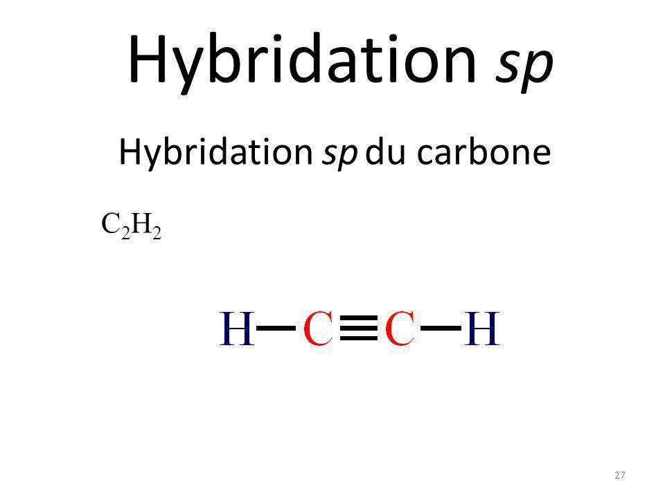 26 Représentez les orbitales de la molécule suivante: