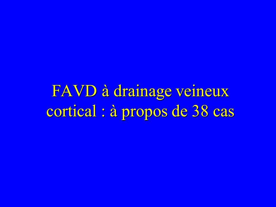FAVD à drainage veineux cortical : à propos de 38 cas