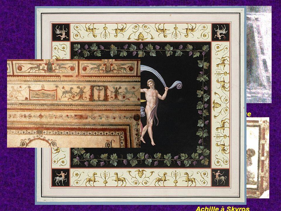 Domus aurea Grotesques Hector et Andromaque Achille à Skyros