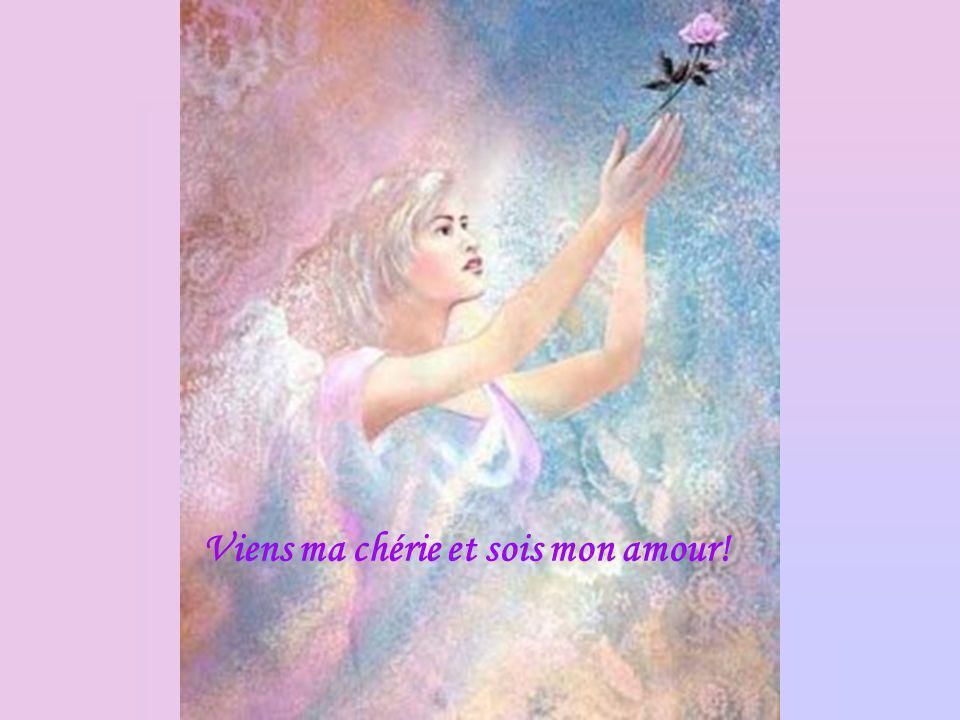 Jornerai tes cheveux de fleurs détoiles, Et tes oreilles danneaux De la jeune lune montante,