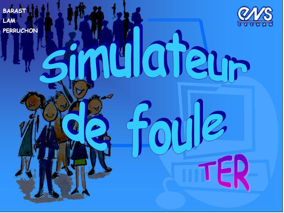 INTRODUCTION Objectif du TER : Elaboration dun simulateur dun mouvement (en panique ou non) de foule.