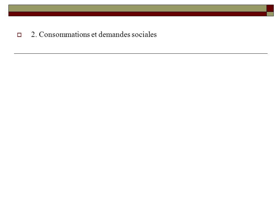 2. Consommations et demandes sociales 2. Consommations et demandes sociales