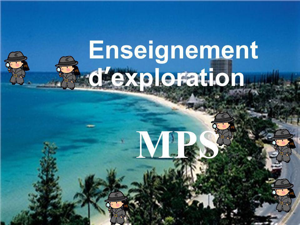 MPS Enseignement dexploration