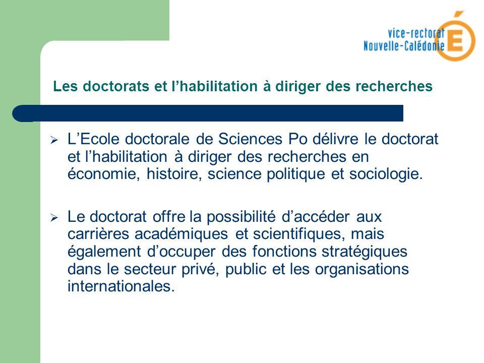 Les doctorats et lhabilitation à diriger des recherches LEcole doctorale de Sciences Po délivre le doctorat et lhabilitation à diriger des recherches