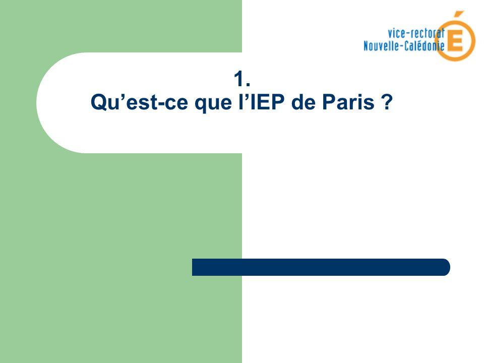 1. Quest-ce que lIEP de Paris ?