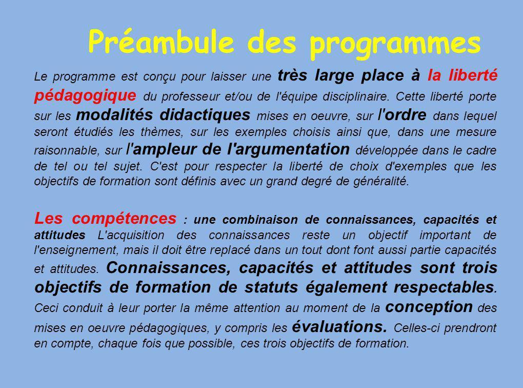 Liberté pédagogique mais… contraintes de travailler par compétences et … de finir le programme !.