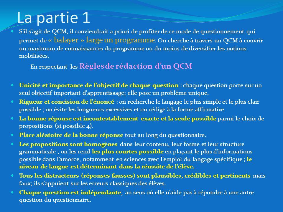 Sil sagit de QCM, il conviendrait a priori de profiter de ce mode de questionnement qui permet de « balayer » large un programme.