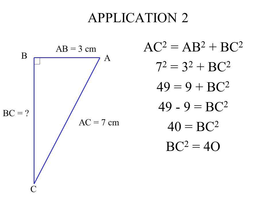 A B C AB = 3 cm BC = .