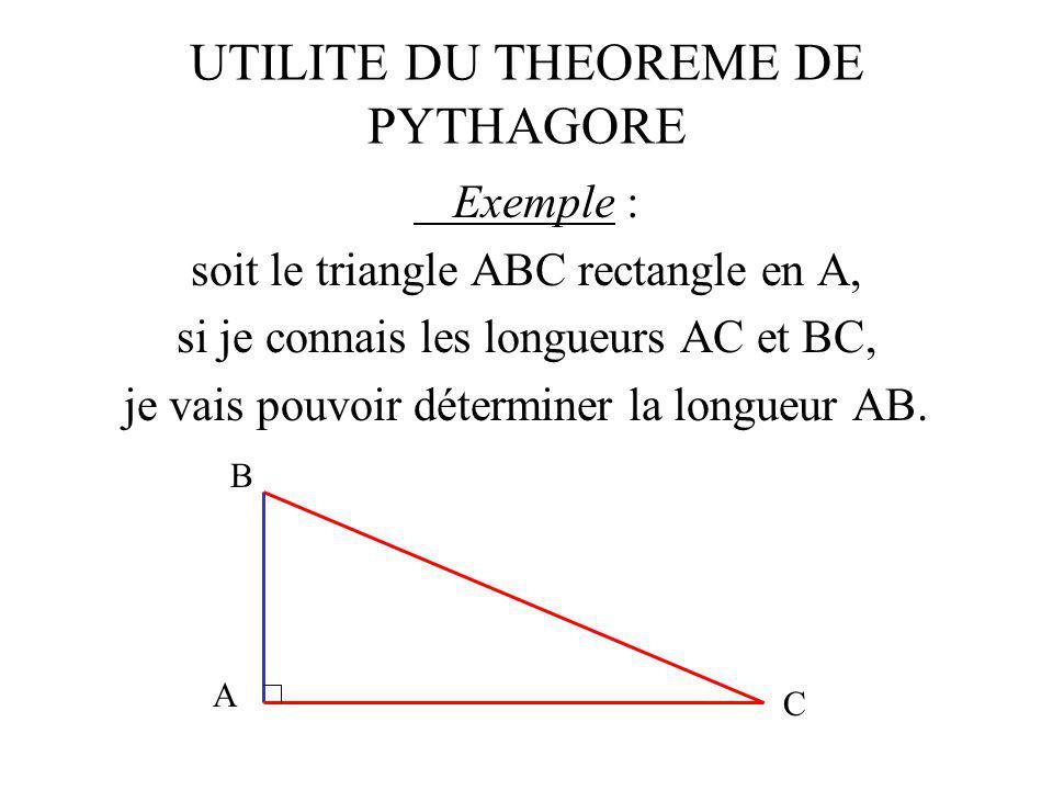 POUR EN SAVOIR PLUS Conclusion : a 2 + b 2 = c 2 a bc b