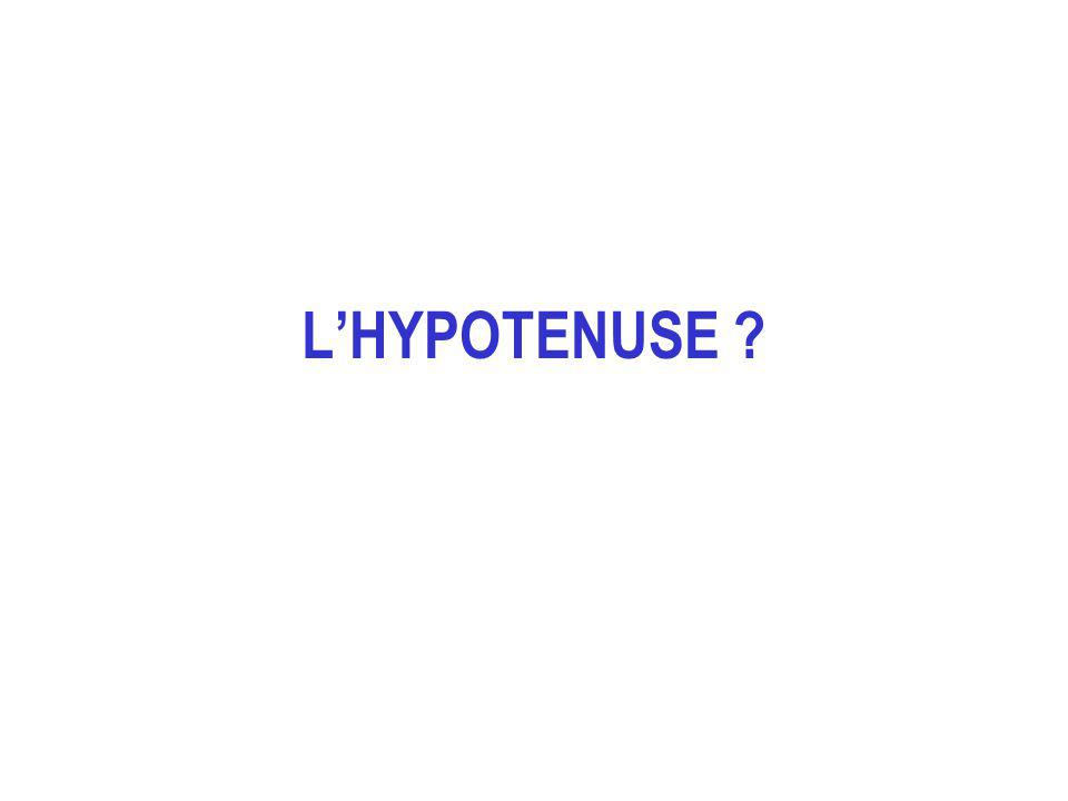 LHYPOTENUSE ?