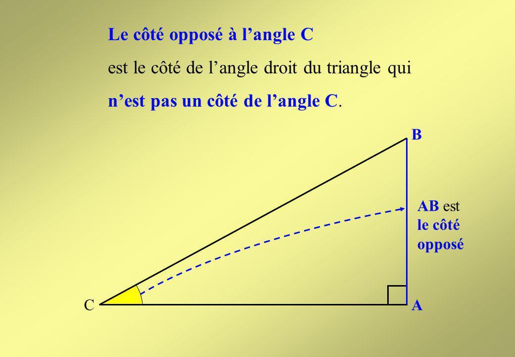 hypoténuse B A C côté adjacent Suite Sommaire