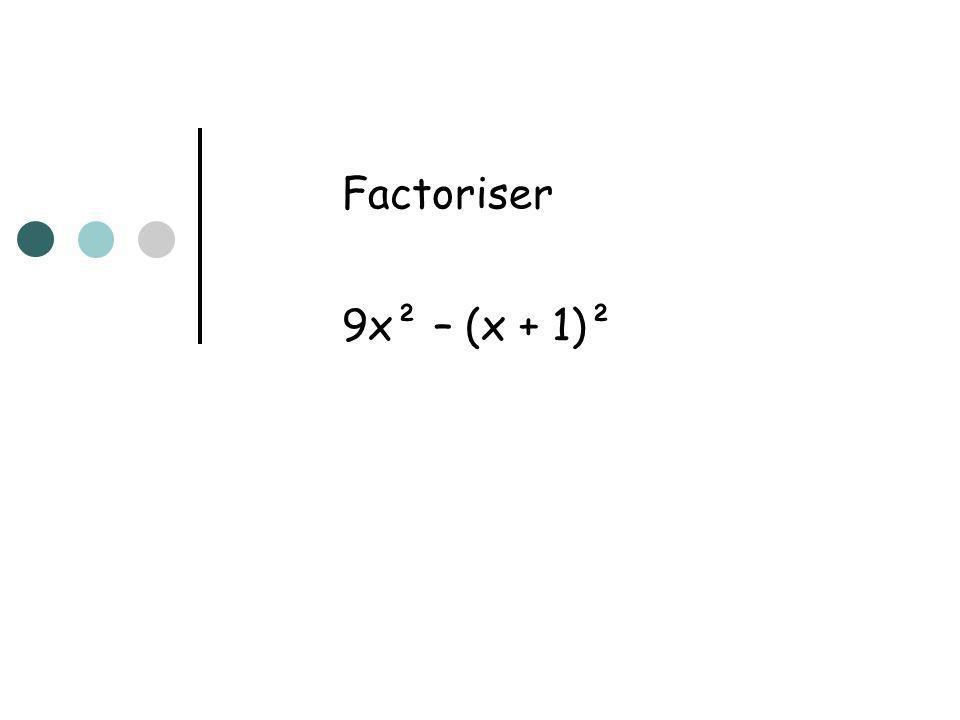 Résoudre dans l équation (x+2)² – 1 = 3