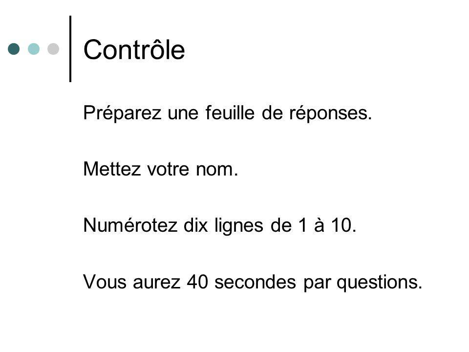 Formule de dérivée : Question 1