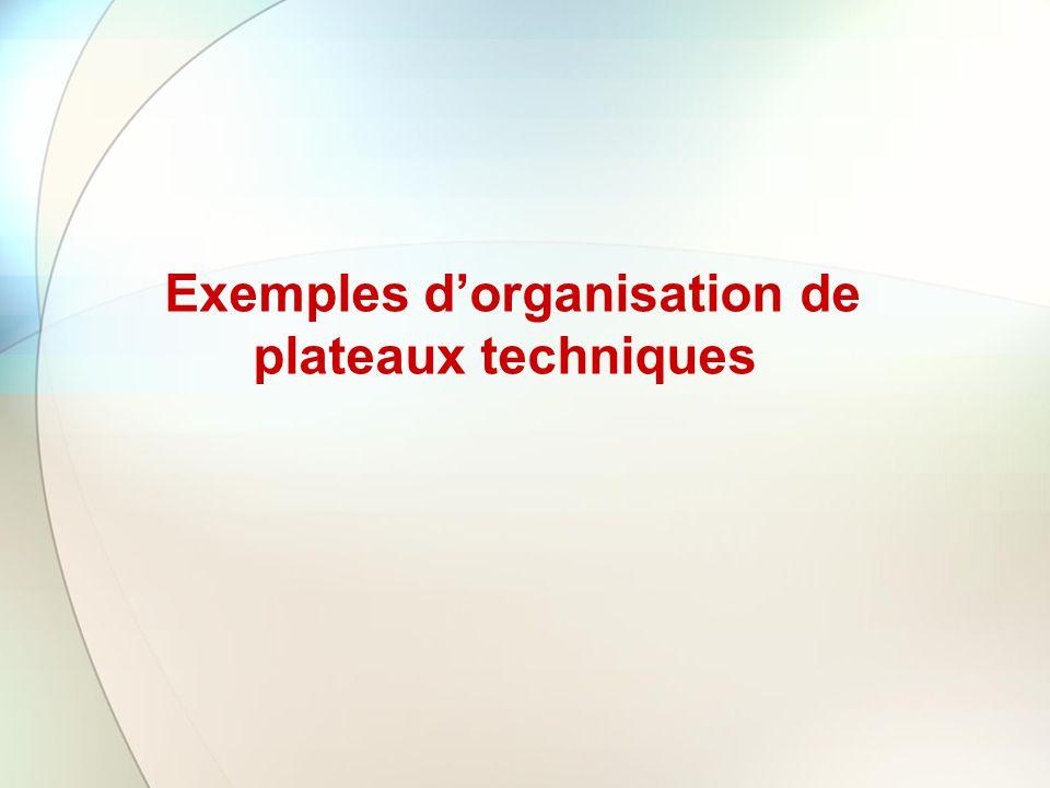 Exemples dorganisation de plateaux techniques