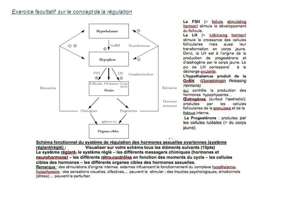 Exercice facultatif sur le concept de la régulation