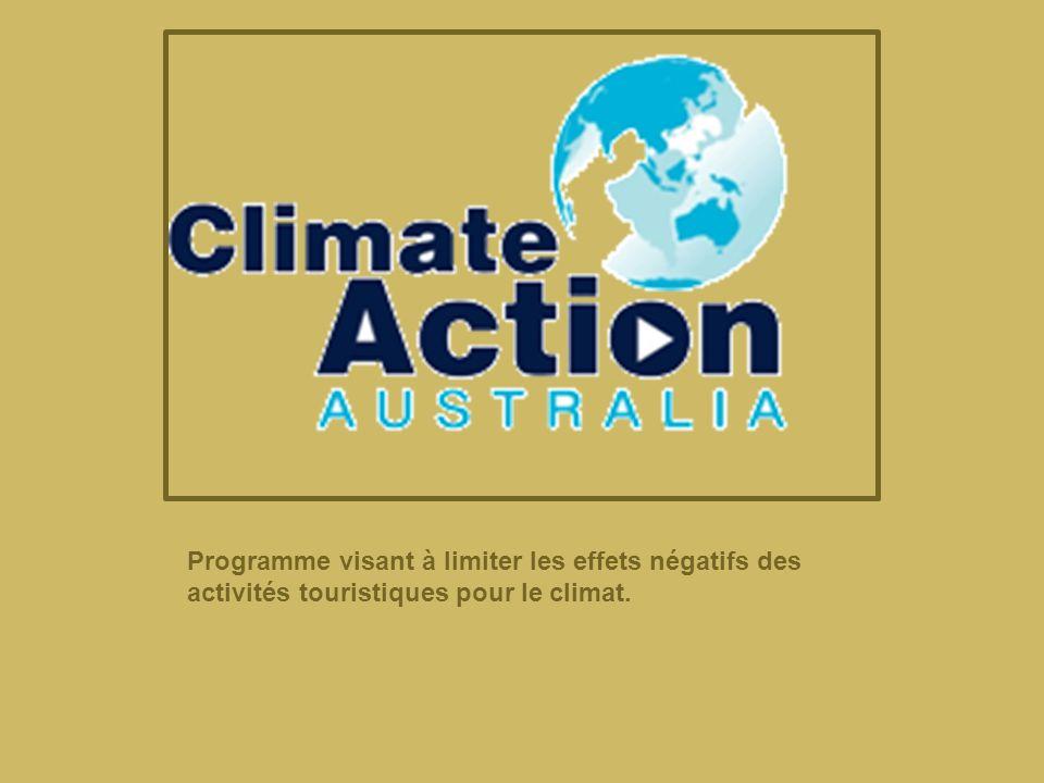Programme visant à limiter les effets négatifs des activités touristiques pour le climat.