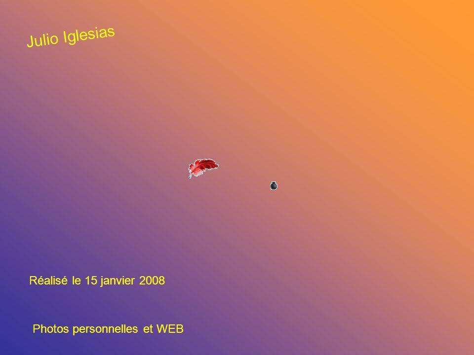 Réalisé le 15 janvier 2008 Photos personnelles et WEB Julio Iglesias