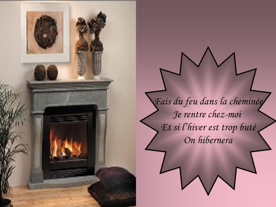 Fais du feu dans la cheminée Je reviens chez-nous Sil fait du soleil à Paris Il en fait partout