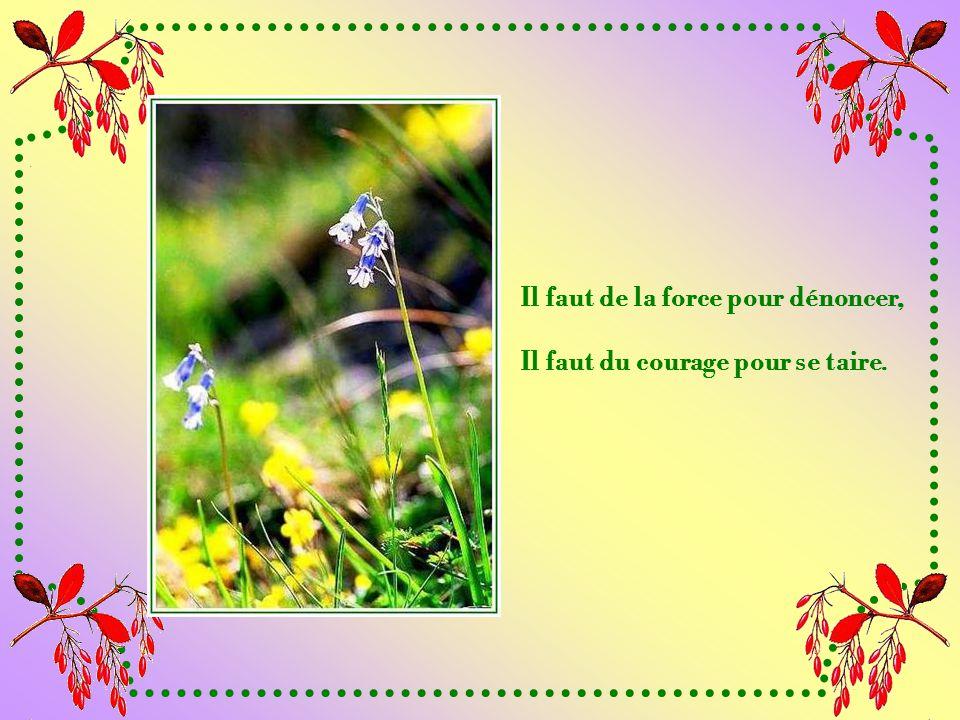 Il faut de la force pour accepter les épreuves, Il faut du courage pour en rire.
