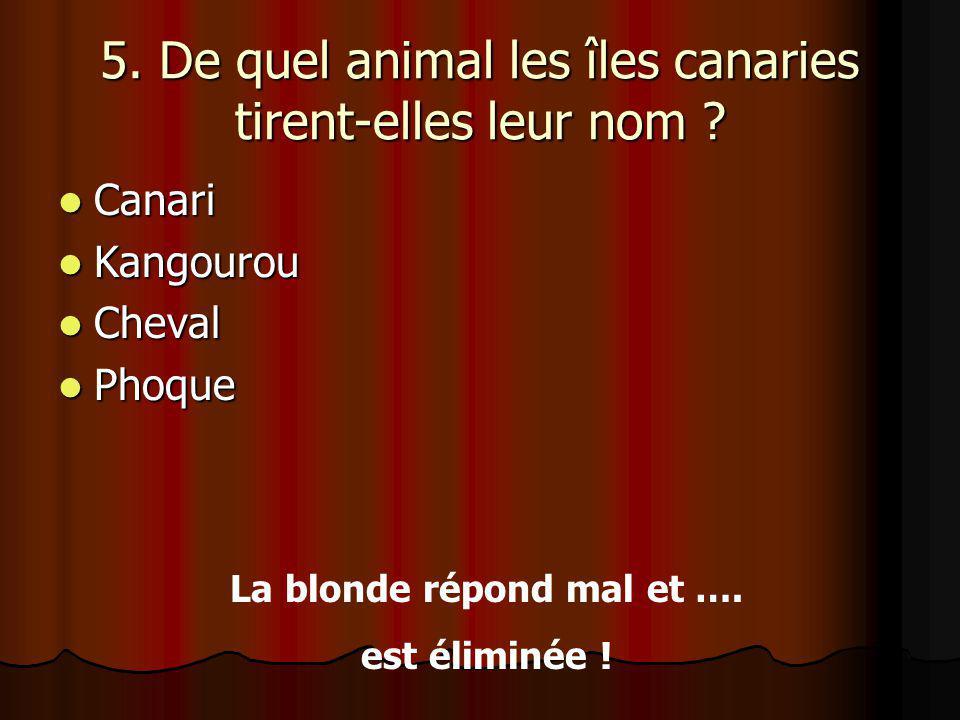 5.De quel animal les îles canaries tirent-elles leur nom .