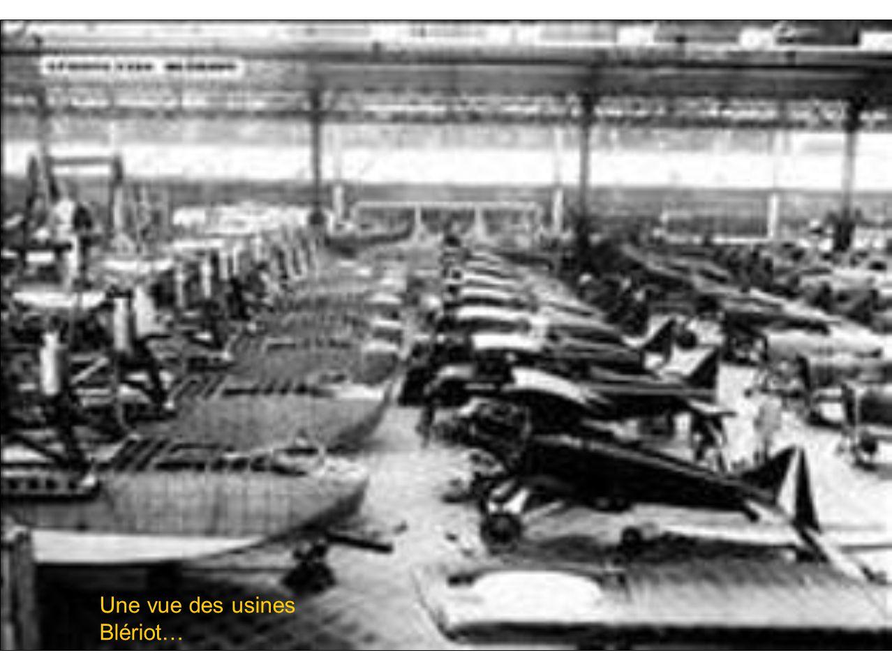 Une vue des usines Blériot…