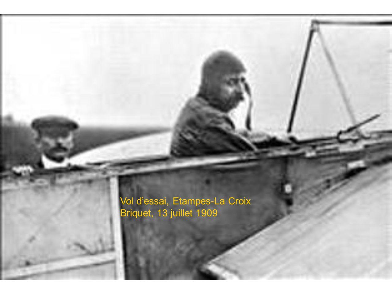 Vol dessai, Etampes-La Croix Briquet, 13 juillet 1909