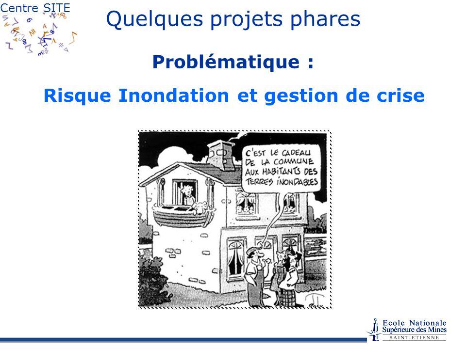 Centre SITE Risque Inondation et gestion de crise Quelques projets phares Problématique :
