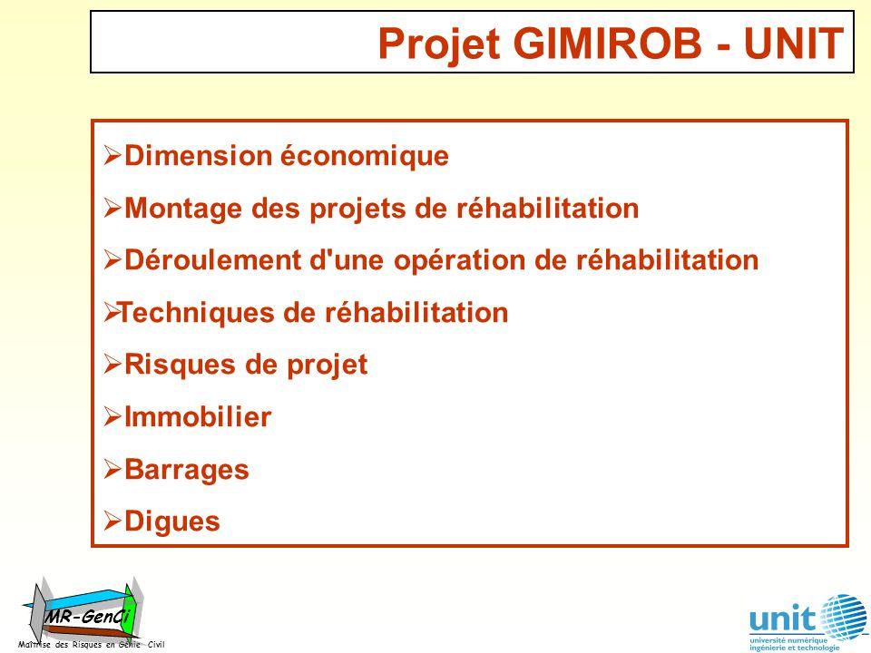 Maîtrise des Risques en Génie Civil MR-GenCi Dimension économique Montage des projets de réhabilitation Déroulement d'une opération de réhabilitation