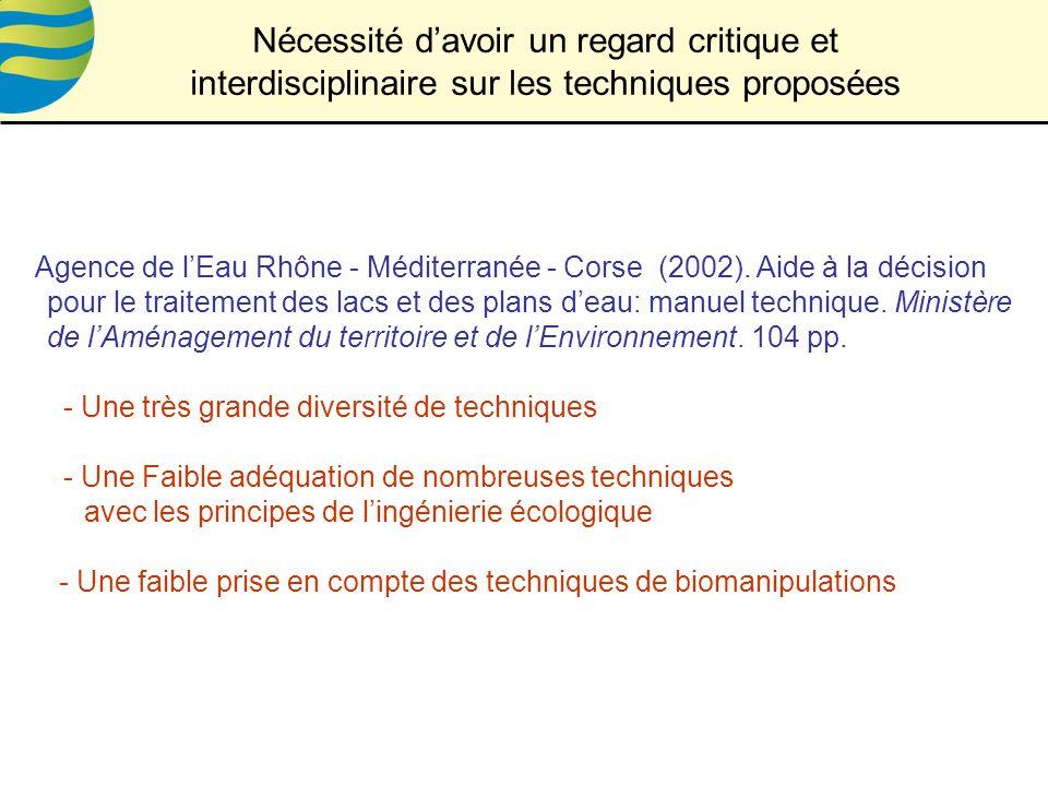 Agence de lEau Rhône - Méditerranée - Corse (2002).