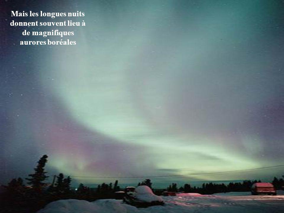 La première chute de neige peut se produire en août. Viennent ensuite les longues nuits d'hiver... Quand l'hiver se déchaîne sur l'Alaska, les tempéra