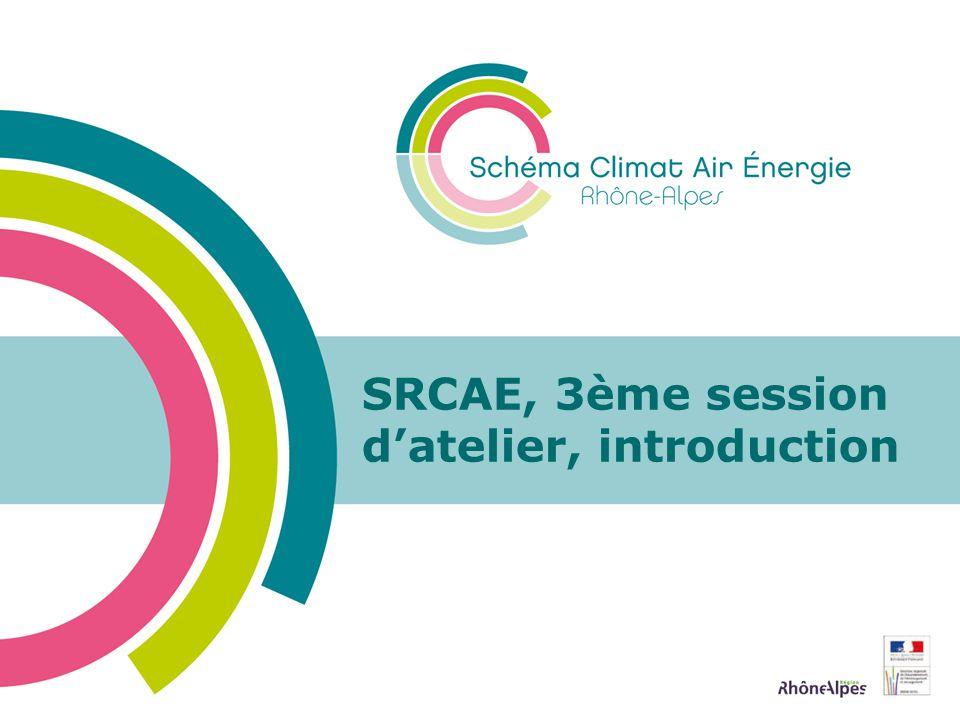 SRCAE, 3ème session datelier, introduction