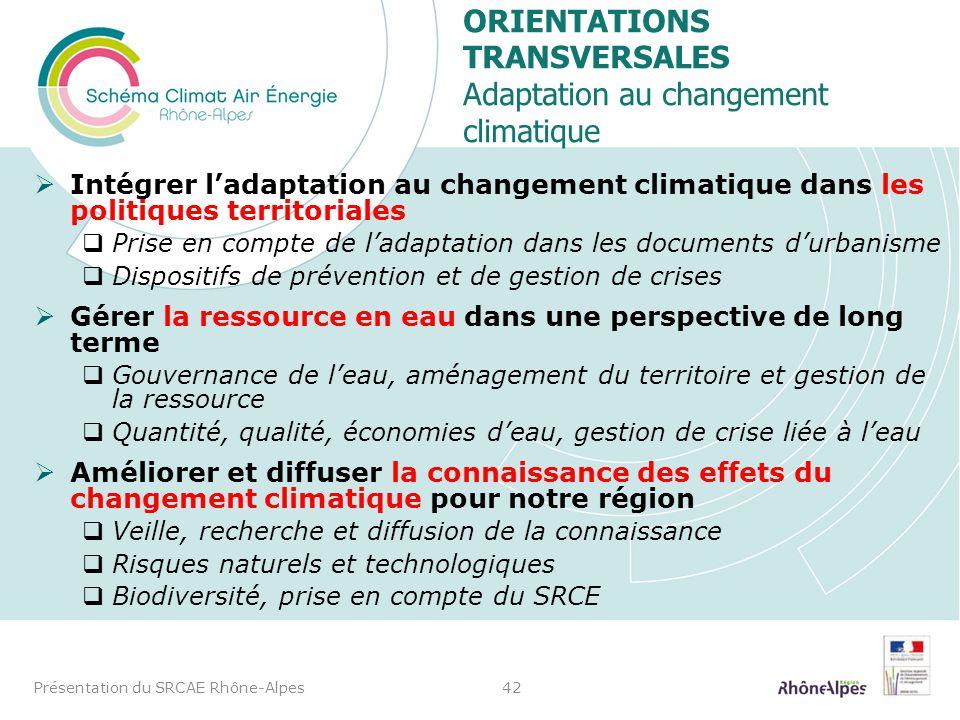 Intégrer ladaptation au changement climatique dans les politiques territoriales Prise en compte de ladaptation dans les documents durbanisme Dispositi