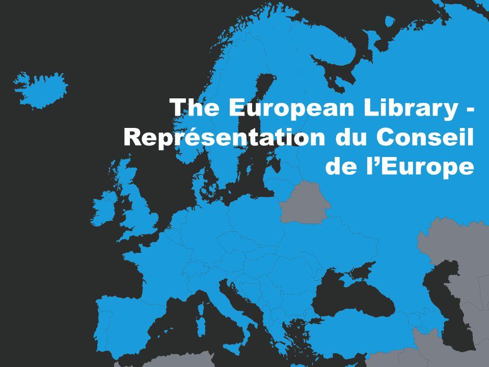 The European Library - Représentation du Conseil de lEurope