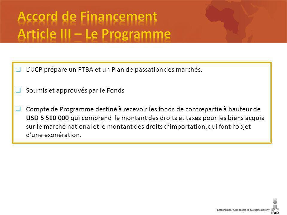 LUCP prépare un PTBA et un Plan de passation des marchés.