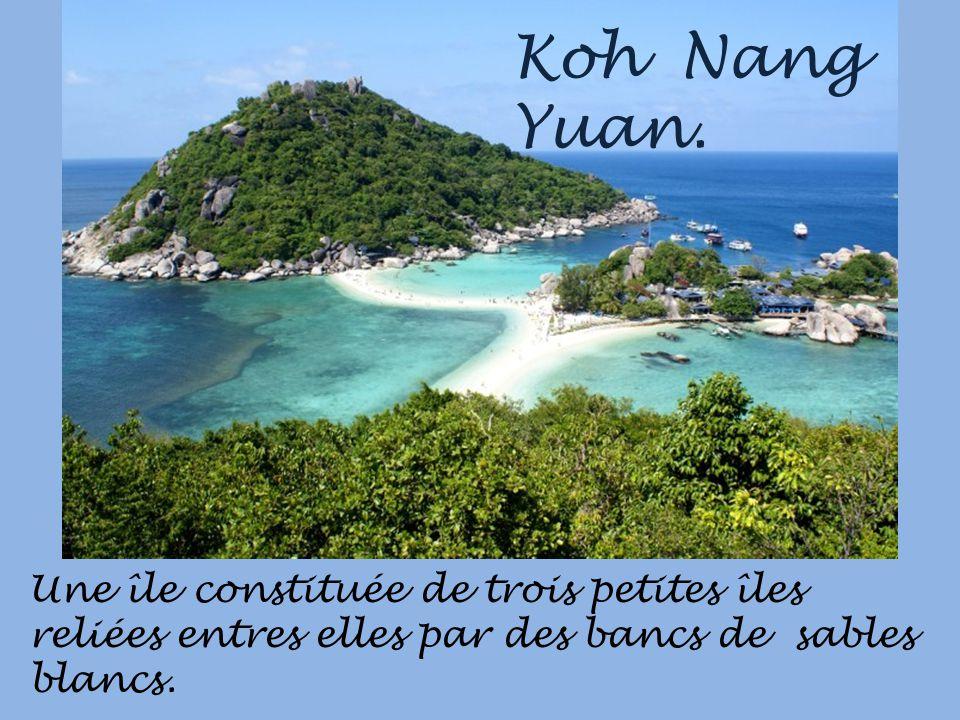Ce qui fait le charme de ce pays cest la beauté de ses îles et des plages de sables blancs. La baie de Chalong.