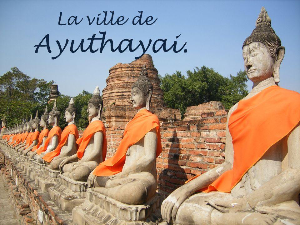 La ville de Sukhothai. Inscrite au patrimoine mondial de lhumanité.