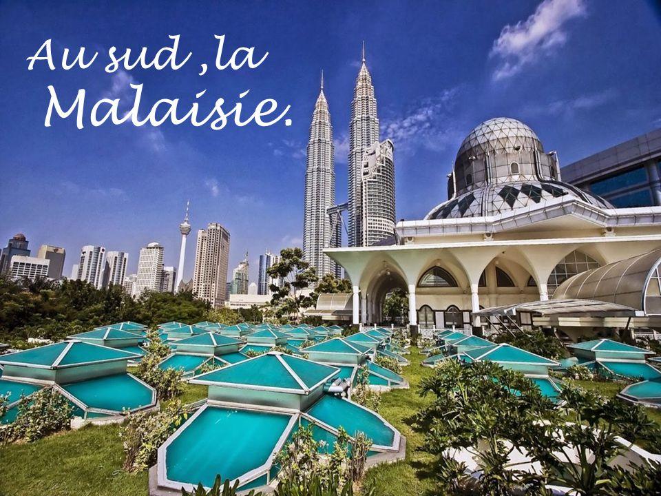 Au sud,la Malaisie.