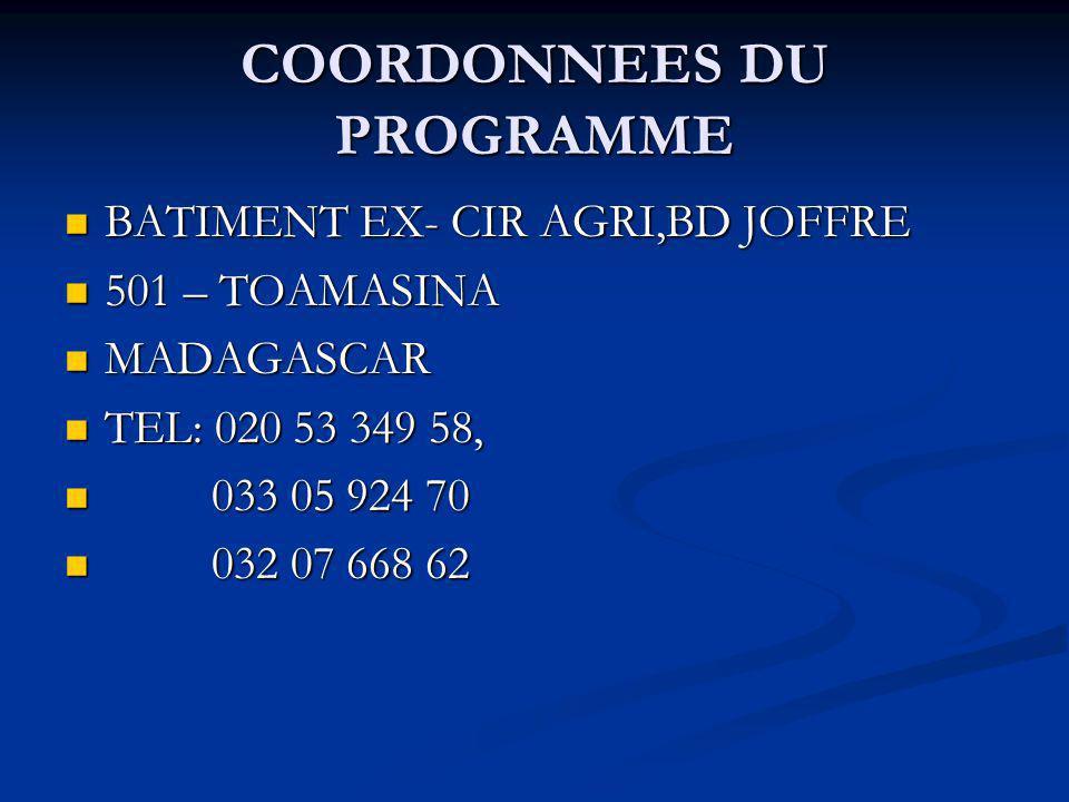 BAILLEURS DE FONDS FONDS INTERNATIONAL DE DEVELOPPEMENT AGRICOLE (F.I.D.A.) FONDS INTERNATIONAL DE DEVELOPPEMENT AGRICOLE (F.I.D.A.) ORGANISATION DES PAYS EXPORTATEURS DE PETROLE (O.P.E.P.) ORGANISATION DES PAYS EXPORTATEURS DE PETROLE (O.P.E.P.) GOUVERNEMENT DE MADAGASCAR (G.D.M.) GOUVERNEMENT DE MADAGASCAR (G.D.M.)