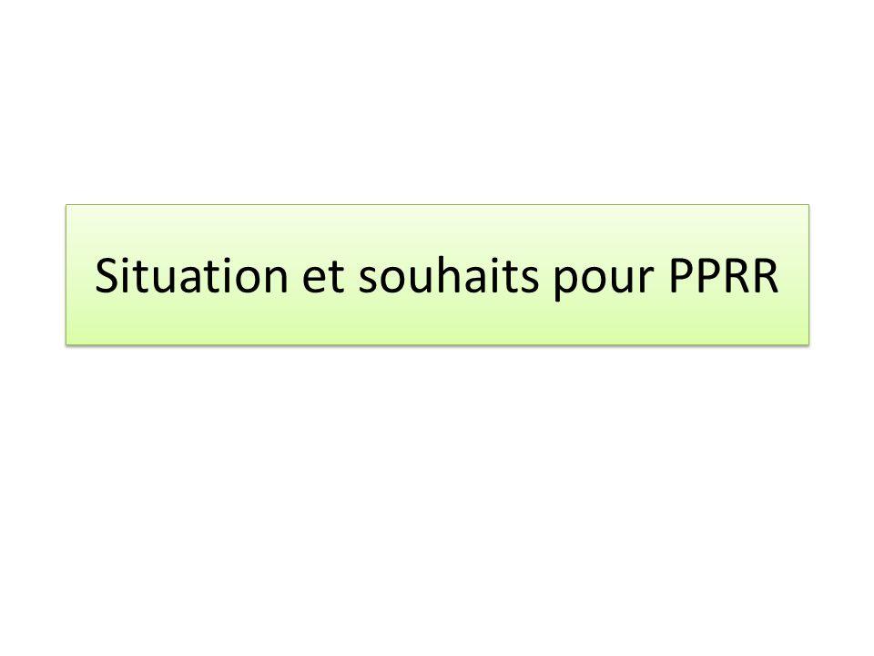 Situation et souhaits pour PPRR