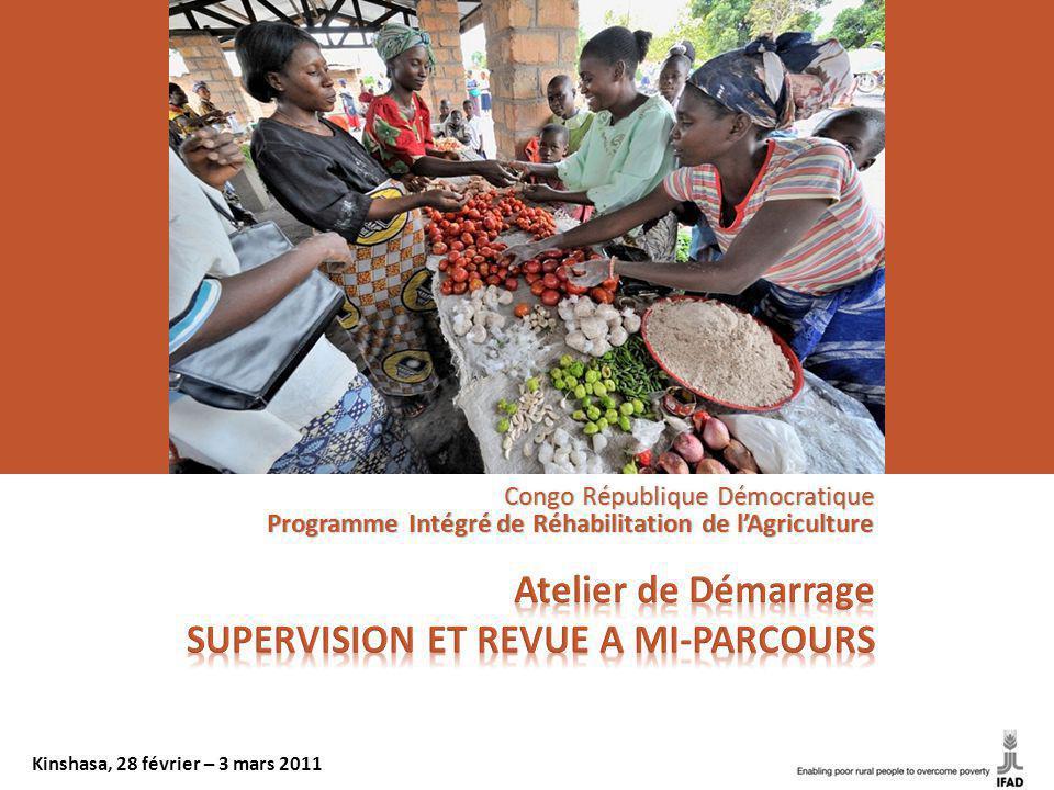 Congo République Démocratique Programme Intégré de Réhabilitation de lAgriculture Kinshasa, 28 février – 3 mars 2011