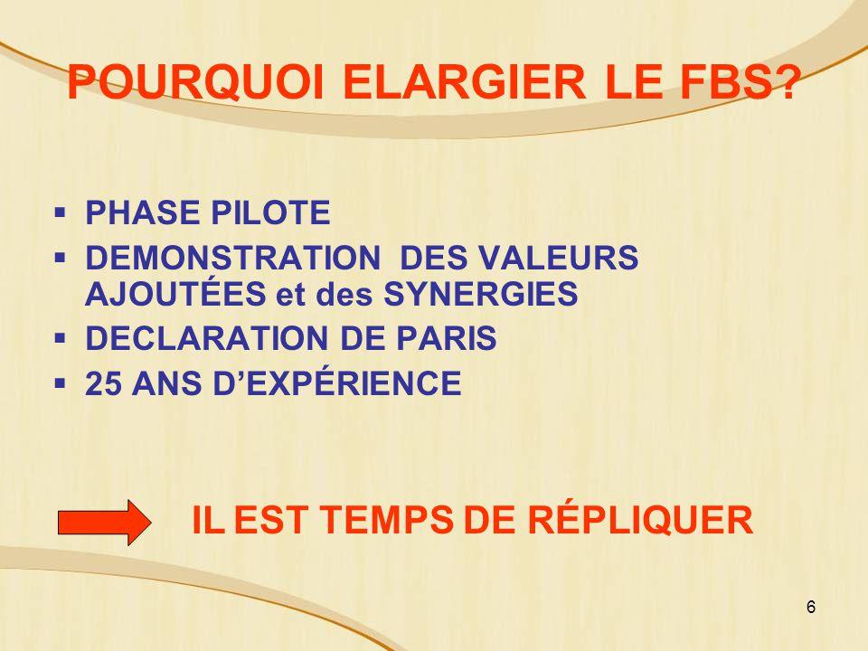 6 POURQUOI ELARGIER LE FBS.