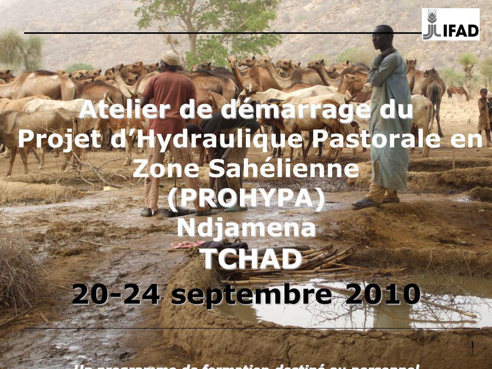 111 Atelier de démarrage du (PROHYPA) Ndjamena TCHAD 20-24 septembre 2010 Un programme de formation destiné au personnel chargé de la mise en œuvre du