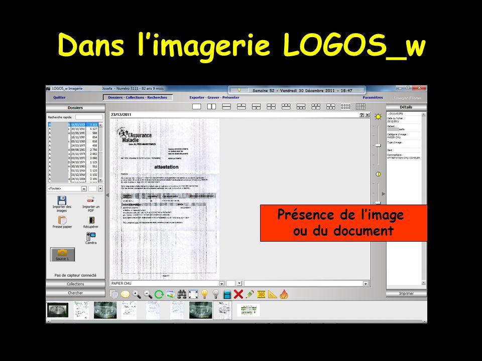 Dans limagerie LOGOS_w Présence de limage ou du document