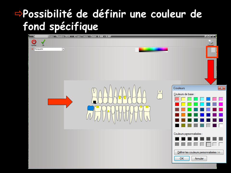 Possibilité de définir une couleur de fond spécifique