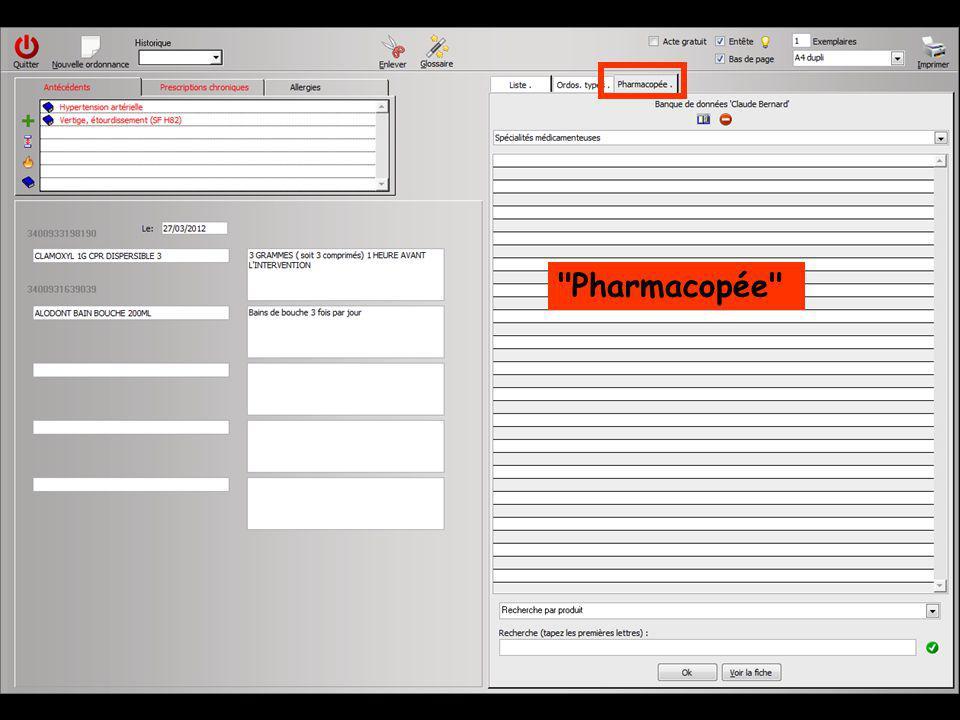 Si une base de données médicamenteuses est installée sur votre ordinateur vous pouvez accéder à des fonctions spécifiques Le groupe d icônes spécifique comporte L icône représenté par un petit livre ouvert qui permet de consulter, dans LOGOS_w, la fiche du médicament en cours de rédaction