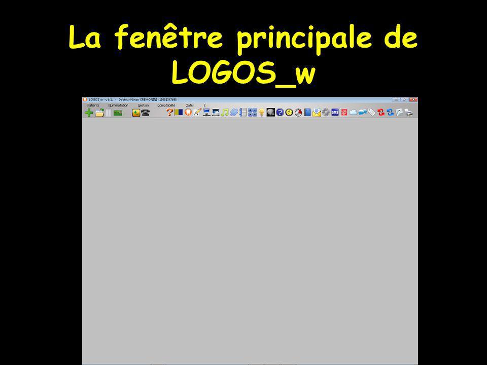 Un menu et une barre dicônes Le menu permet, en cliquant sur une des options, d accéder à l un des grands groupes de fonctions du logiciel