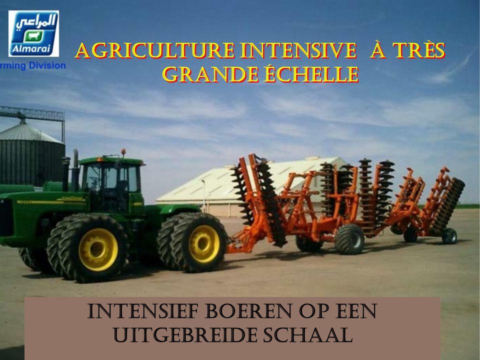 Intensief boeren op een uitgebreide schaal Agriculture intensive à très grande échelle Agriculture intensive à très grande échelle