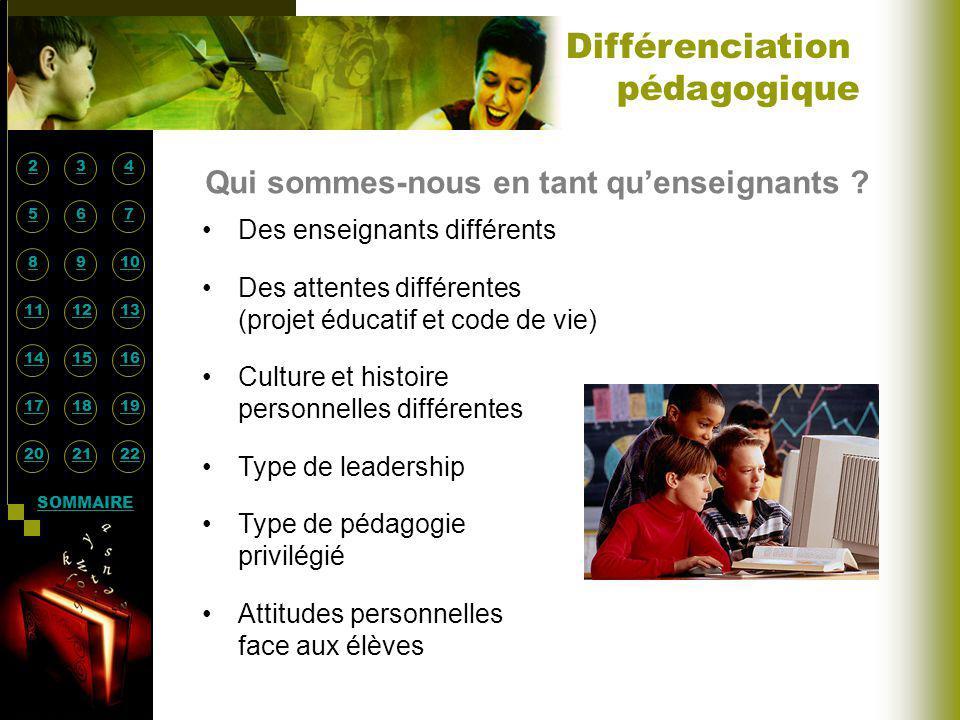 Qui sommes-nous en tant quenseignants ? Des enseignants différents Des attentes différentes (projet éducatif et code de vie) Culture et histoire perso