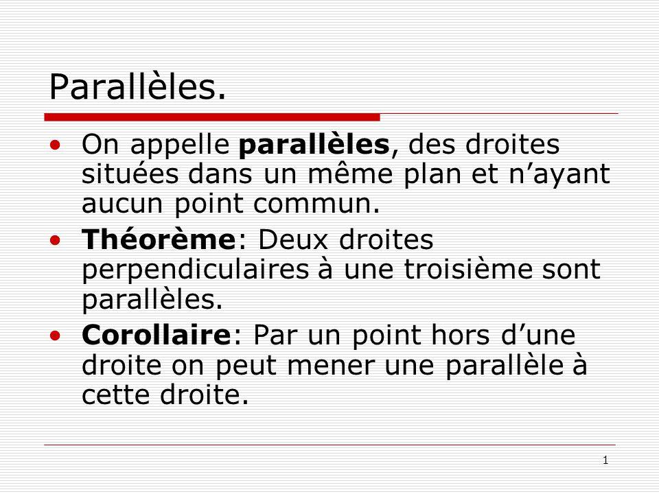 2 Parallèles.